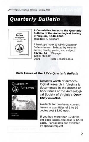 ASV Quarterly Bulletin